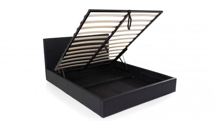 STONA - Lit pour couchage 160x200 noir