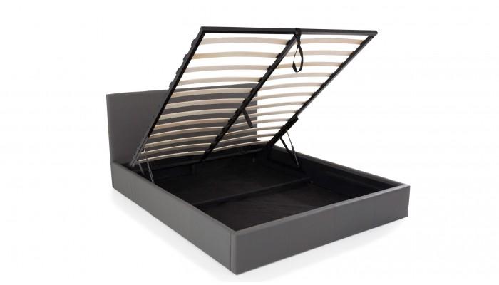 STONA - Lit pour couchage 140x190 gris