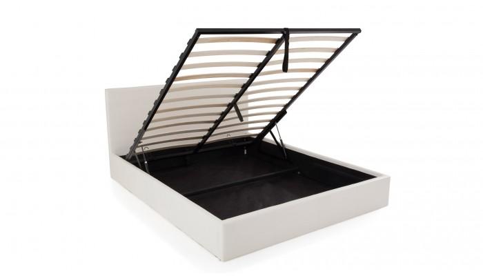 STONA - Lit pour couchage 140x190 blanc