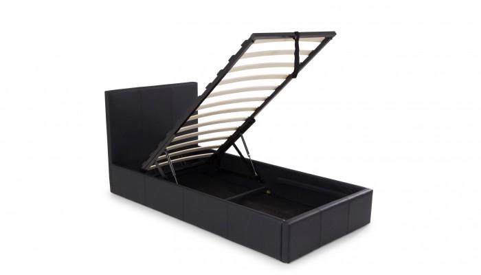 STONA - Lit pour couchage 90x190 noir