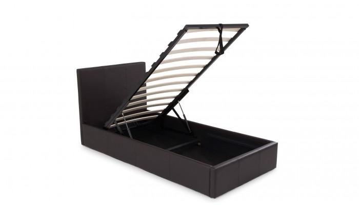 STONA - Lit pour couchage 90x190 taupe