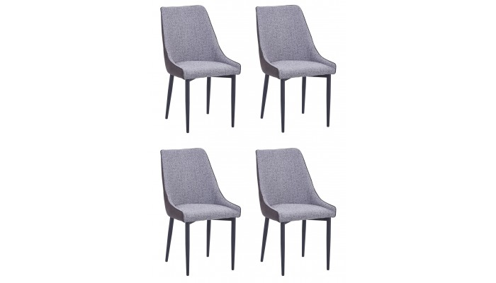 WINNIPEG - Lot de 4 Chaises de séjour