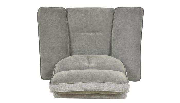 GALAXY - Canapé d'angle design gris et noir gauche