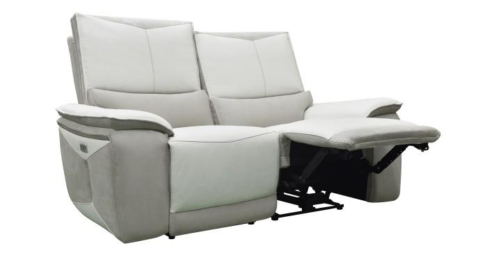 GALAXY - Canapé d'angle design aubergine et noirgauche