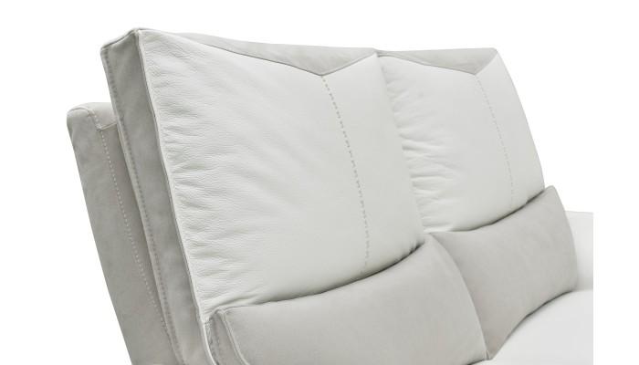 GALAXY - Canapé d'angle design gris et noir droite