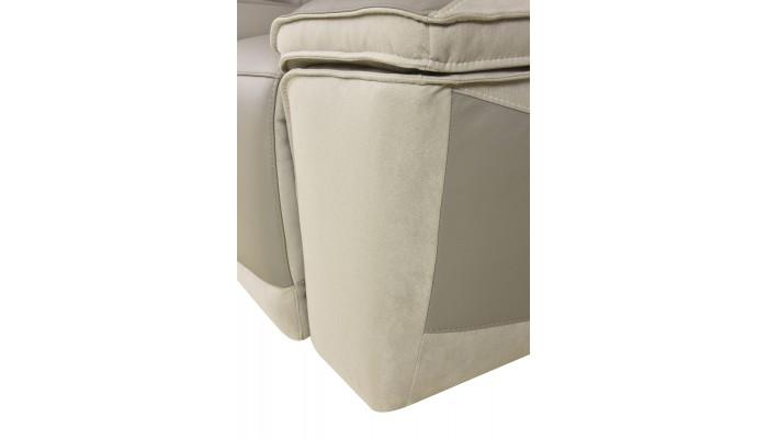 Chaise moderne en tissu chocolat