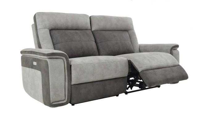 deva fauteuil pivotant et pouf design gris clair et blanc les docks du meuble. Black Bedroom Furniture Sets. Home Design Ideas
