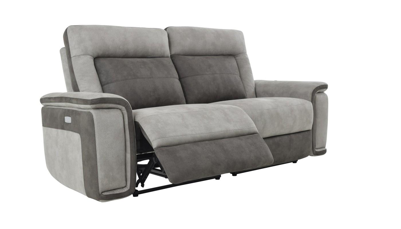 Deva fauteuil pivotant et pouf design gris clair et blanc les docks du me - Fauteuil gris et blanc ...