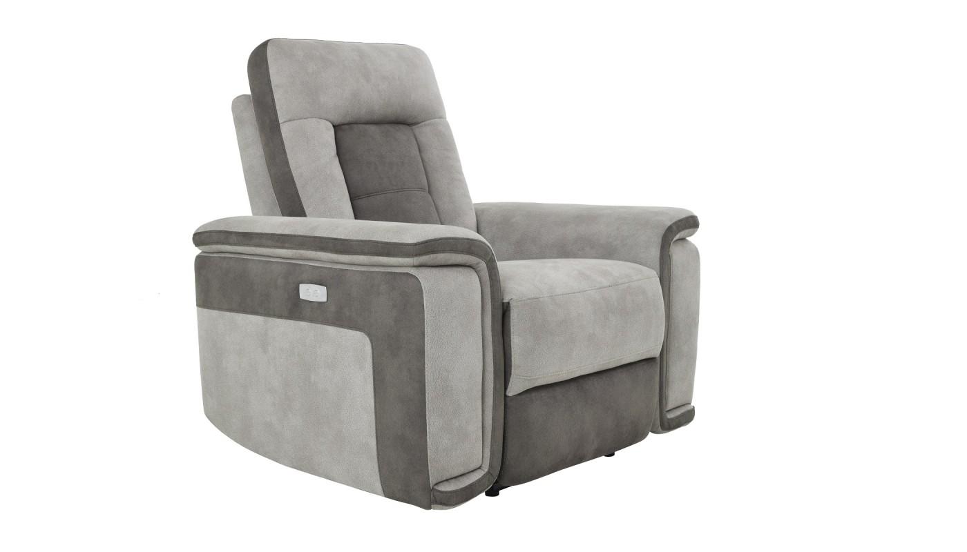 Deva fauteuil pivotant et pouf design tissu brun les docks du meuble - Fauteuil pouf design ...
