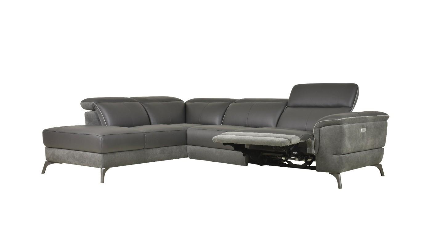 Duo Plus Canapé Dangle Convertible Réversible Design Gris Clair