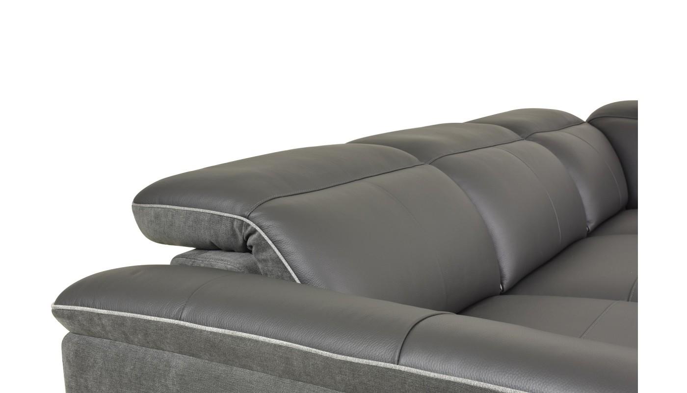 duo plus canap d 39 angle convertible r versible design gris clair et noir les docks du meuble. Black Bedroom Furniture Sets. Home Design Ideas