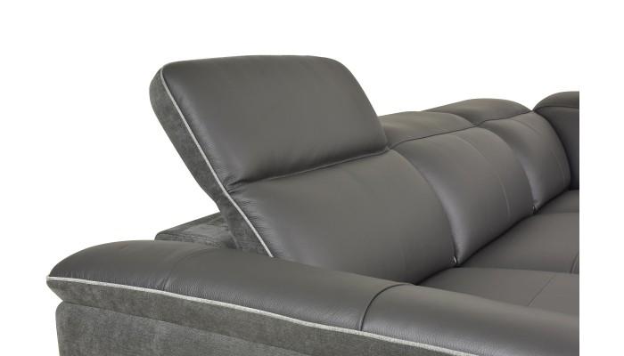JULIA Canapé Places Tissu Gris Foncé Les Docks Du Meuble - Canapé 3 places pour agencement chambre adulte