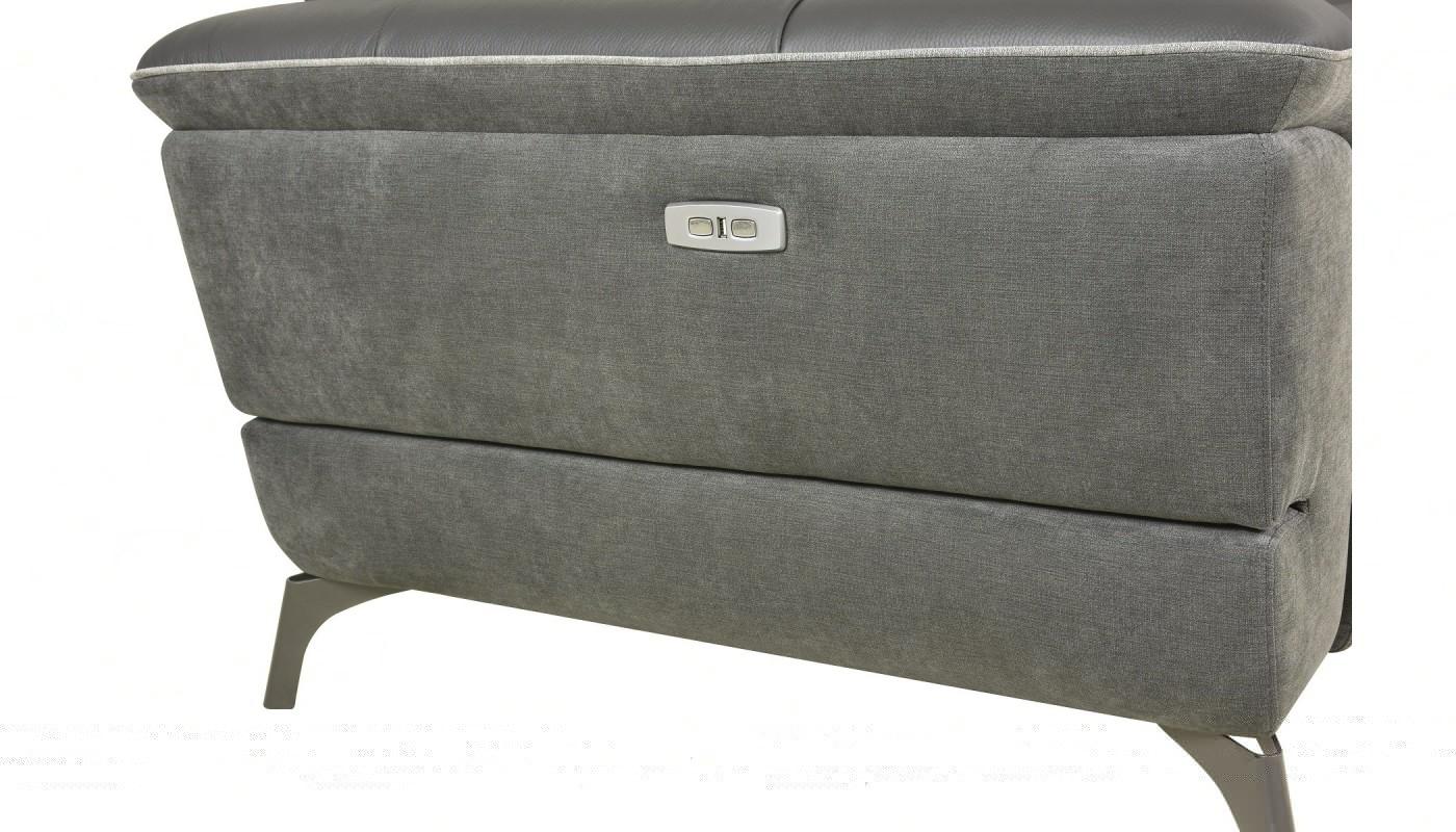 Julia canap 3 places tissu gris fonc les docks du meuble - Canape 3 places tissu gris ...