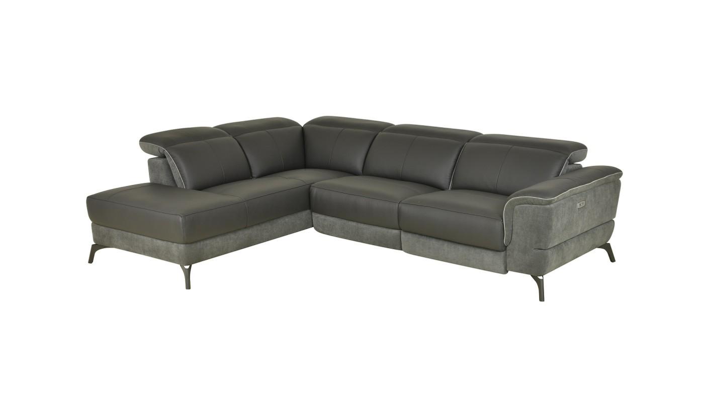 julia canap 3 places tissu gris clair les docks du meuble. Black Bedroom Furniture Sets. Home Design Ideas