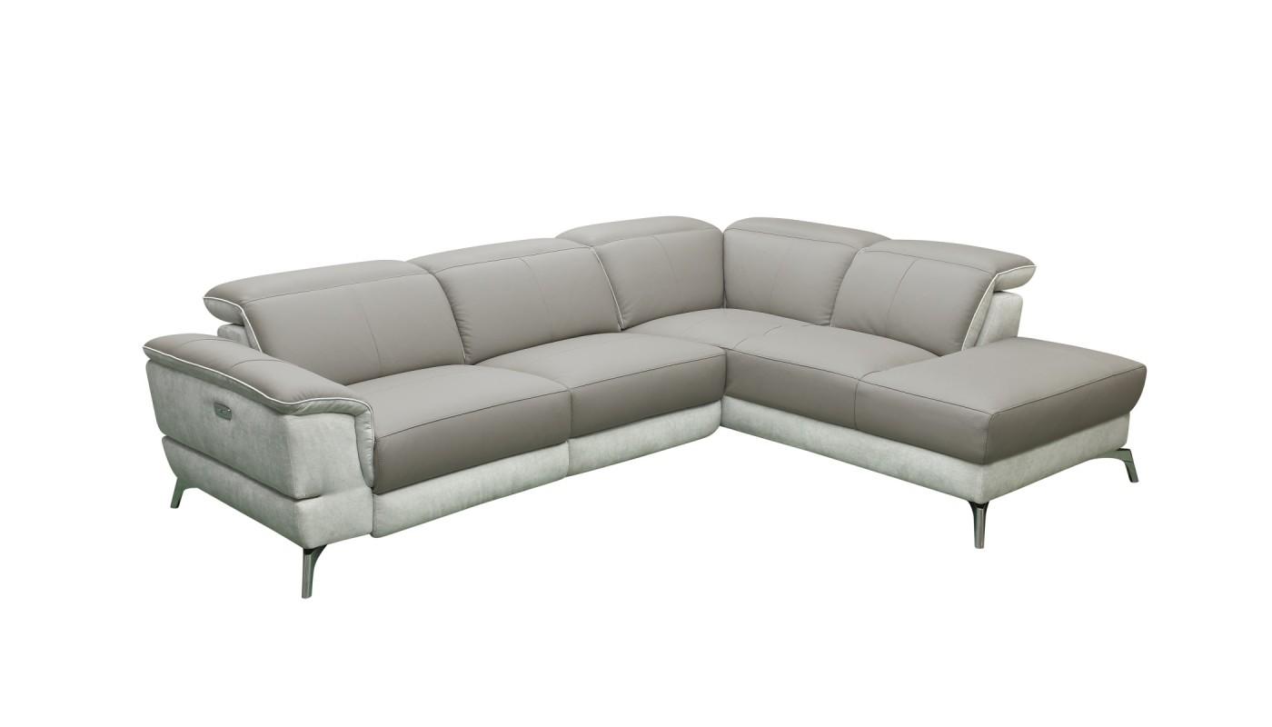 Julia canap 3 places tissu brun les docks du meuble - Canape tissus 3 places ...
