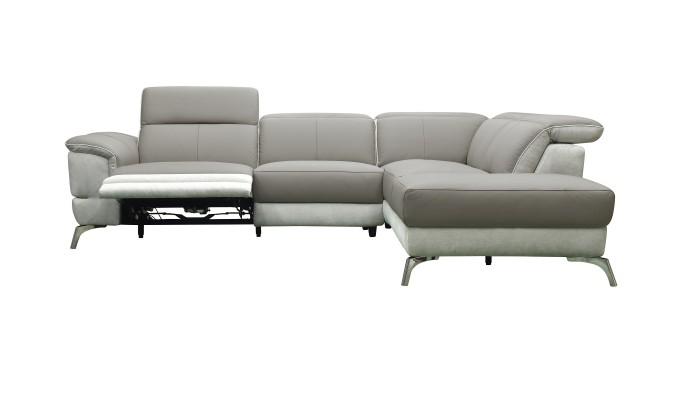 TOBI - Canapé d'angle modulable design multicolore tons gris
