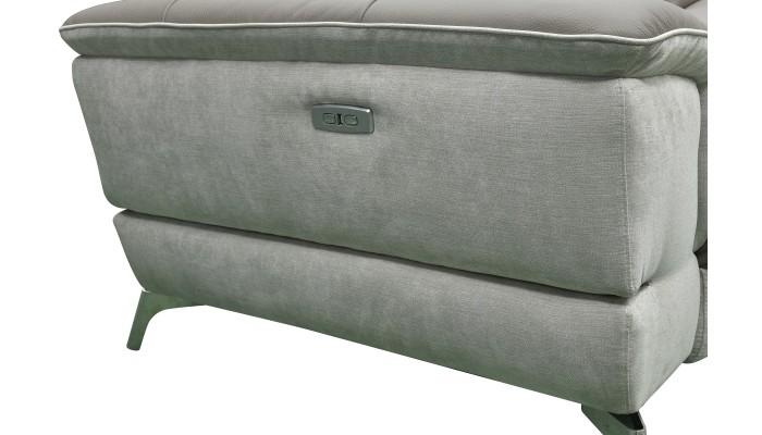 AVANTI - Canapé d'angle 4 modules moderne microfibre noir
