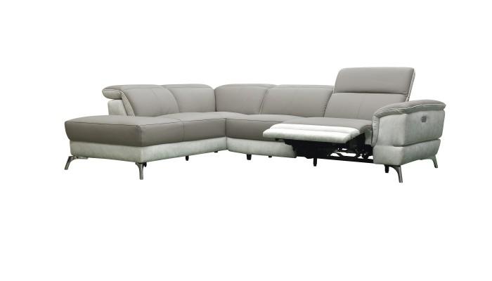 CLAC - Canapé 2 places gris et blanc