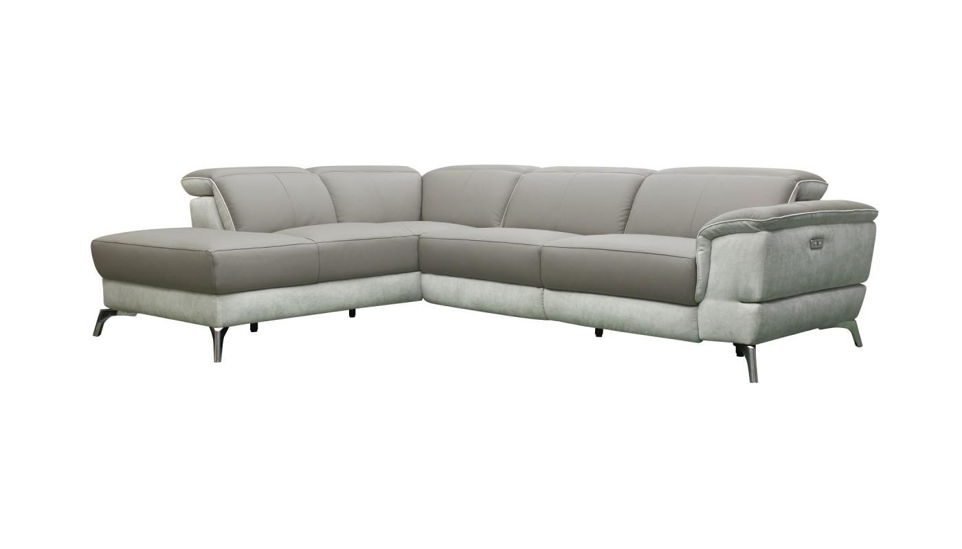 Clac canap 2 places gris et blanc les docks du meuble for Canape gris et blanc