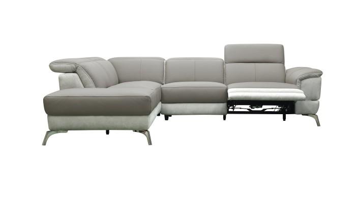 CLAC - Canapé 3 places gris et blanc