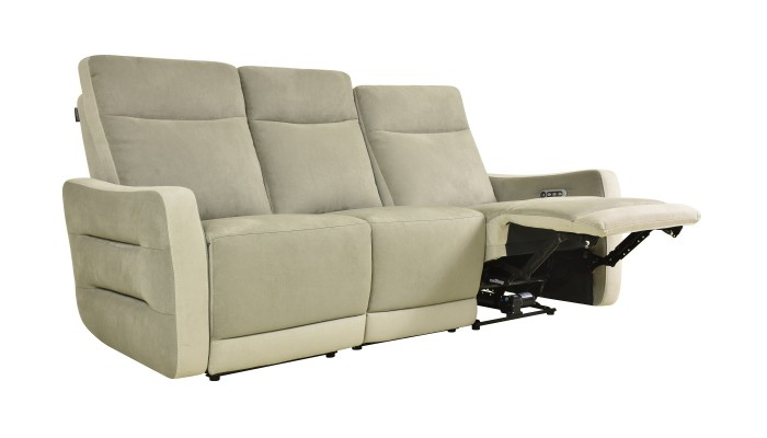 CLAC - Canapé d'angle 5 modules noir et blanc
