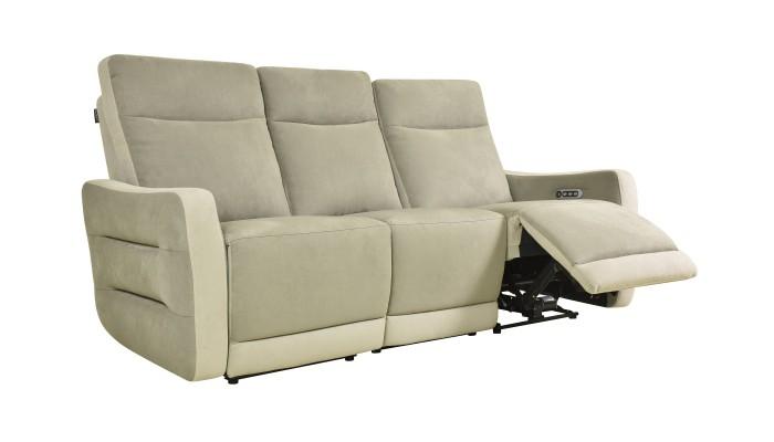 CLAC - Canapé d'angle 5 modules gris et blanc