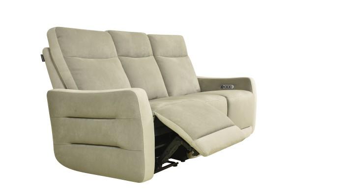 CLAC - Canapé d'angle 4 modules gris et blanc