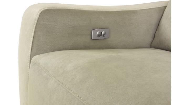 CORABIA - Canapé d'angle convertible droit design vert et blanc