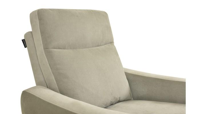 CORABIA - Canapé d'angle convertible droit design brun et blanc