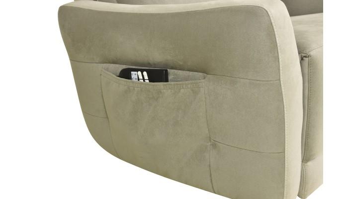 CORABIA - Canapé d'angle convertible gauche design brun et blanc