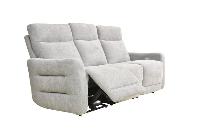 CORABIA - Canapé d'angle convertible droit design gris foncé et blanc
