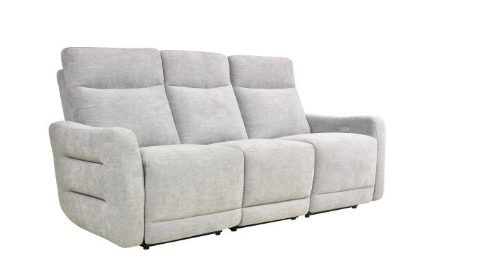CORABIA - Canapé d'angle convertible gauche design gris foncé et blanc
