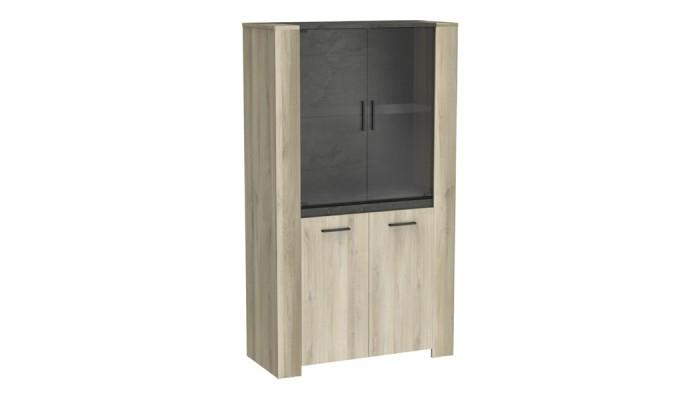 SMOOTHY - Meuble de cuisine haut 80 cm blanc 2 portes