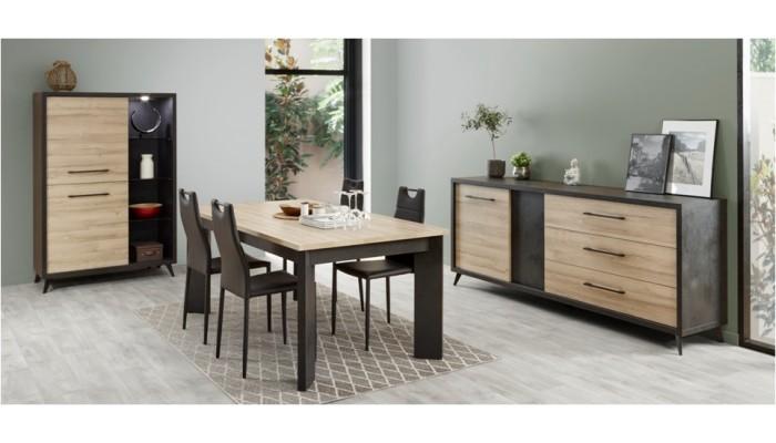 SMOOTHY - Meuble de cuisine bas 80 cm blanc 2 portes 2 tiroirs