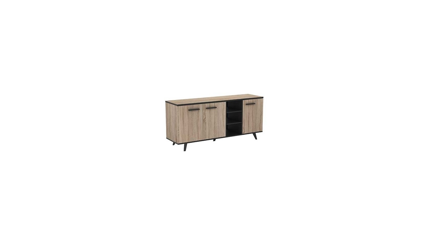smoothy meuble de cuisine bas 40 cm noir 1 porte 1 tiroir profondeur 40 cm docks du meuble. Black Bedroom Furniture Sets. Home Design Ideas