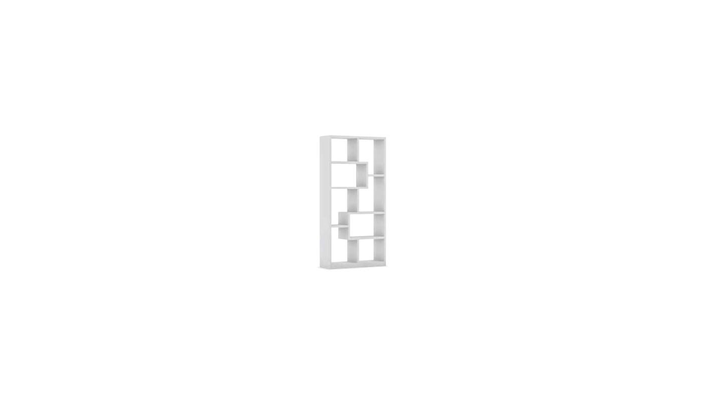 Cave meuble bas 2 portes 2 tiroirs blanc et gris docks for Meuble de cuisine blanc et gris
