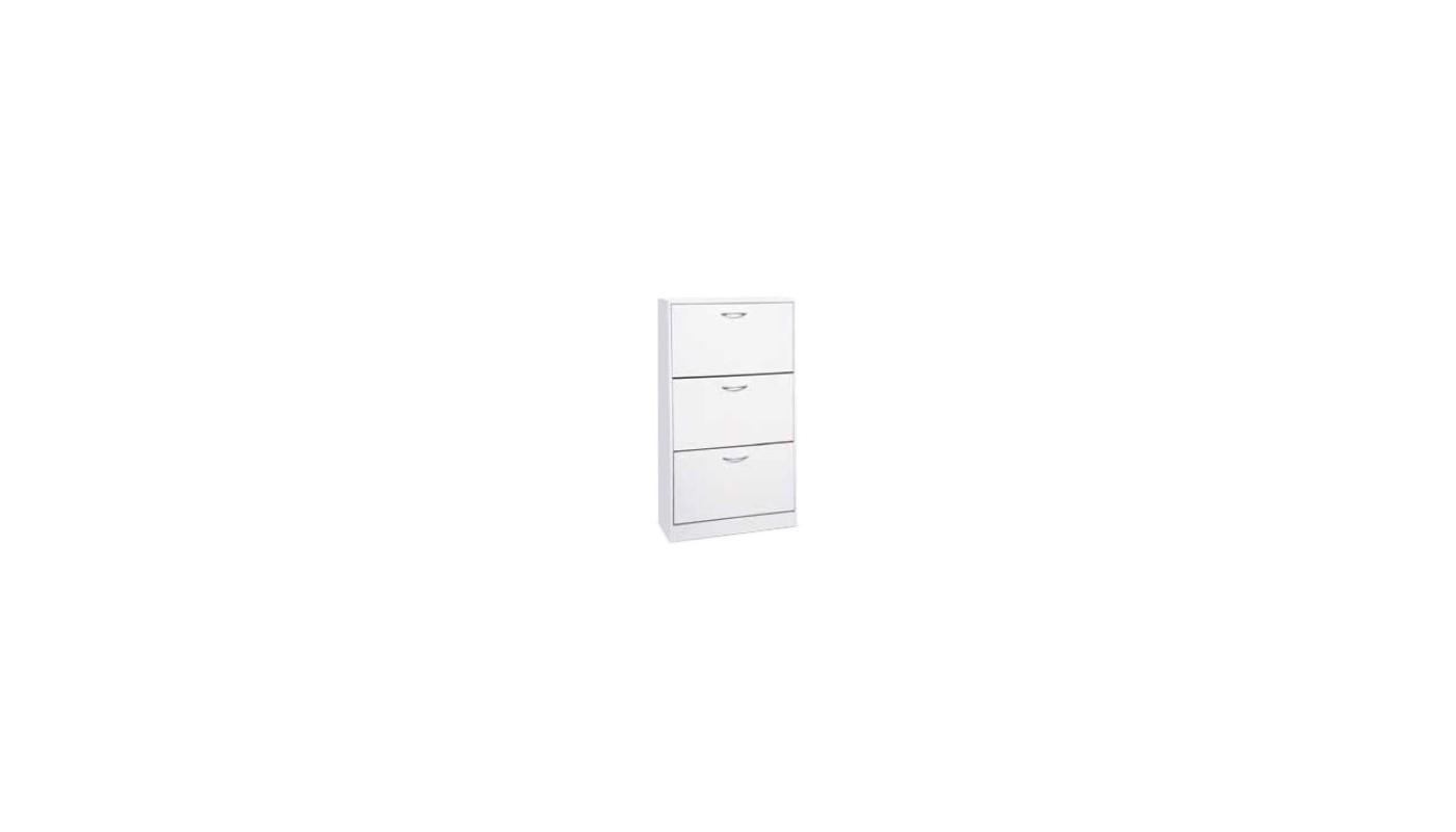 Cave meuble bas 2 portes 2 tiroirs blanc et gris docks for Meuble bas cuisine 2 portes 2 tiroirs