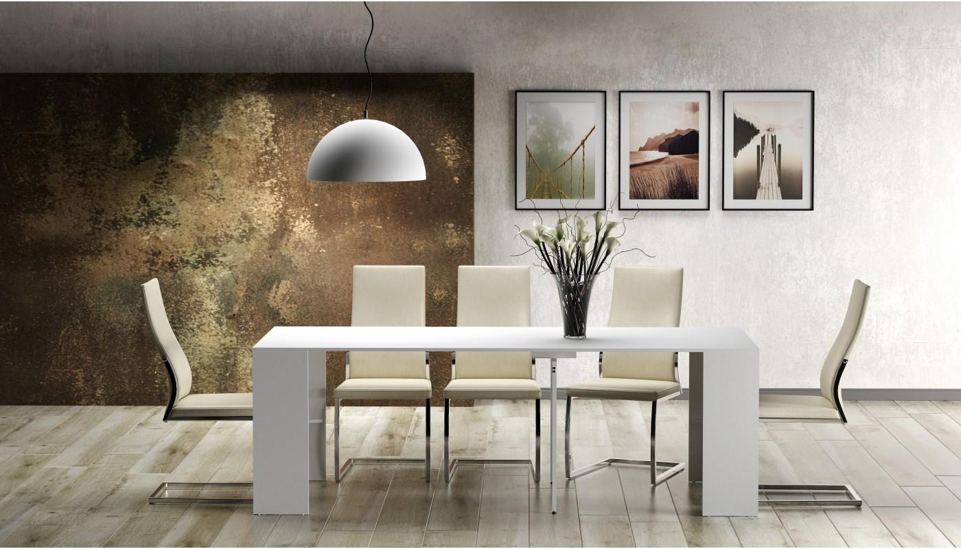 cave buffet avec range bouteilles blanc et gris docks du meuble. Black Bedroom Furniture Sets. Home Design Ideas
