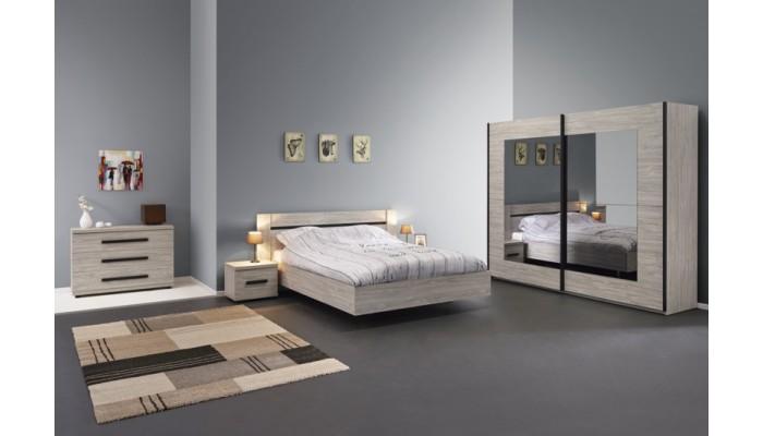 DELPHES - Lit pour couchage 160x200