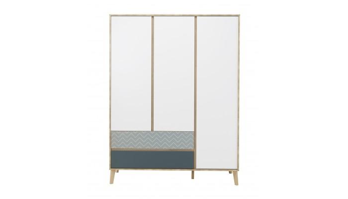 ROME - Armoire 3 portes 2 tiroirs