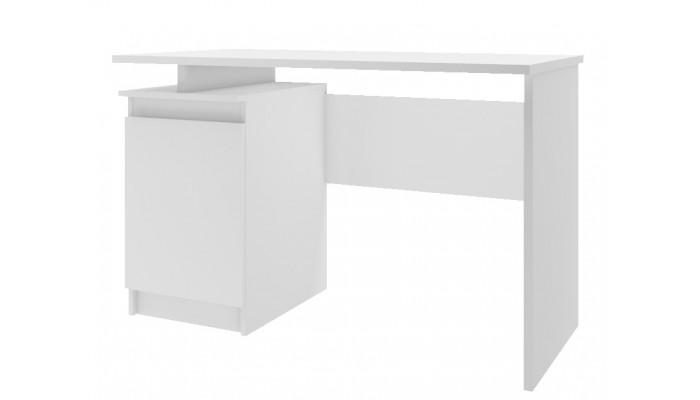 CAVE - Meuble bas 2 portes 1 tiroir blanc et gris