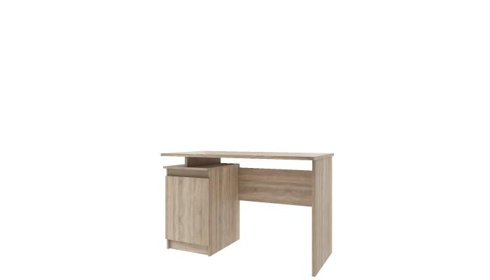 CAVE - Buffet de cuisine 4 portes 2 tiroirs blanc et gris