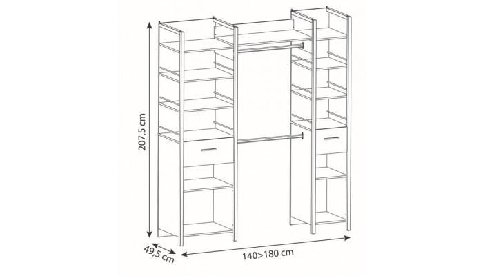 SUGAR - Buffet micro-ondes 2 portes 2 tiroirs