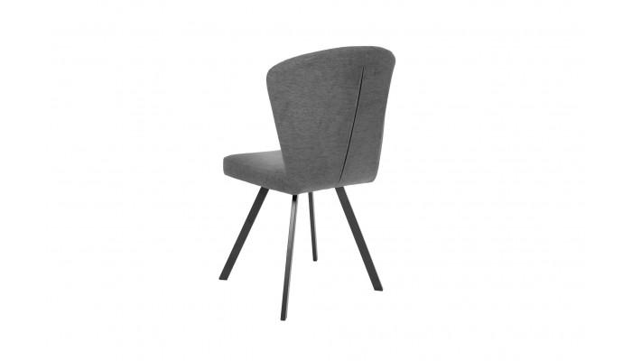 H26 - Chaise de séjour tissu gris souris (Lot de 4)
